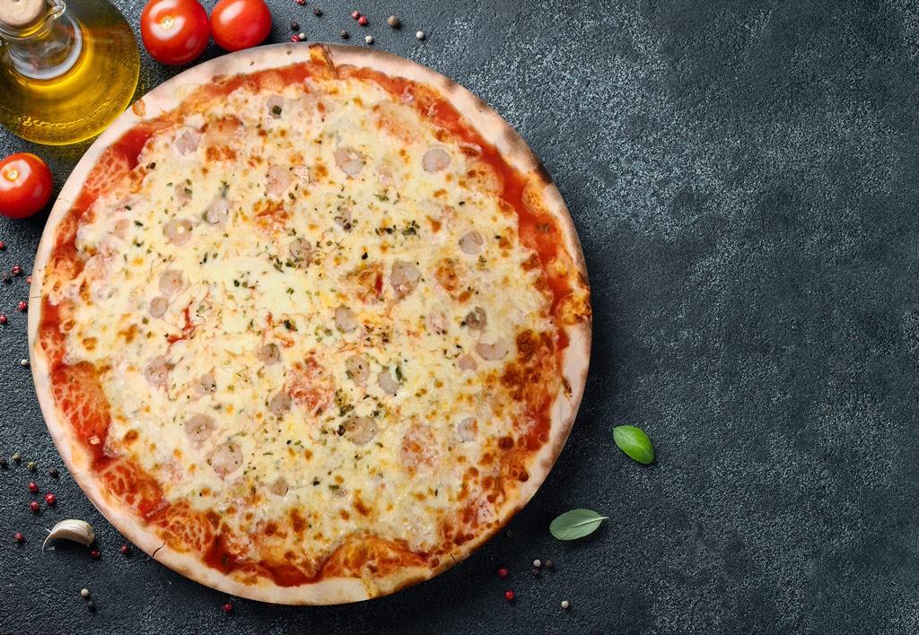 Pizza Gamberetti - Pizzeria Don Carlo Calella
