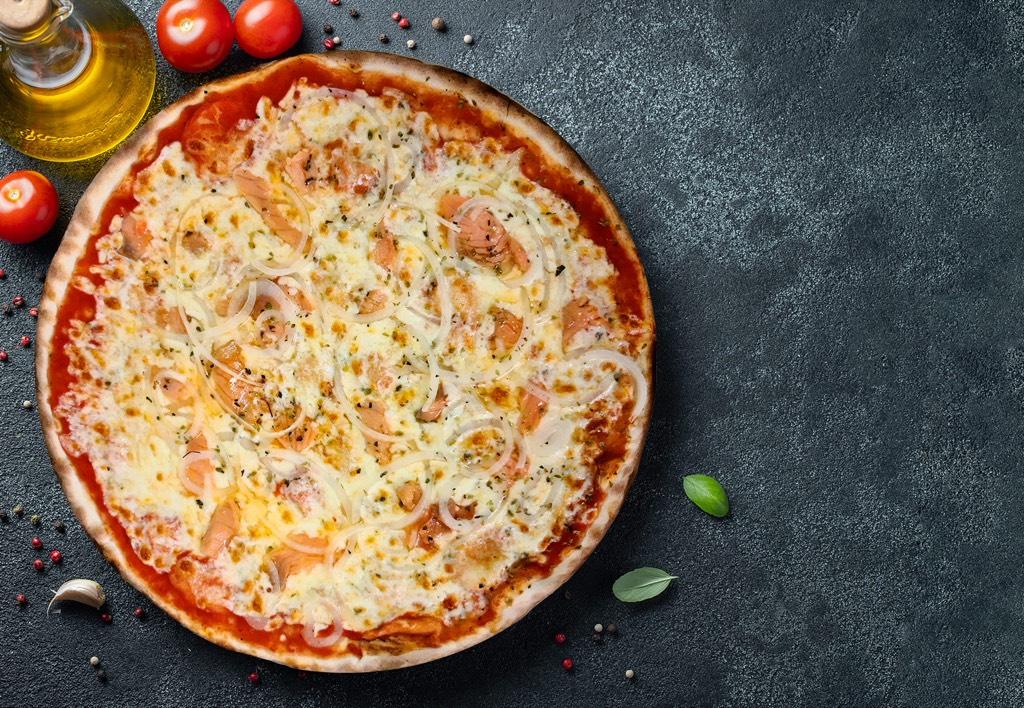 Pizza Salmon - Pizzeria Don Carlo Calella